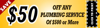 Houston Plumbing Service Coupon