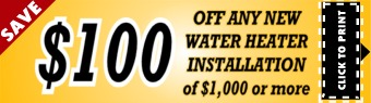 Houston Water Heater Installation Coupon